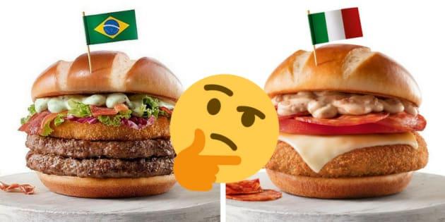 A rede de fast-food lançou oito combos especiais para a Copa do Mundo, que acontece na Rússia em junho deste ano.