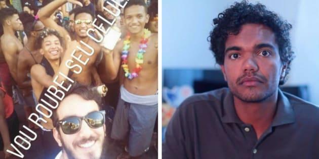 Jovem capixaba é vítima de racismo ao posar para uma selfie no Carnaval.