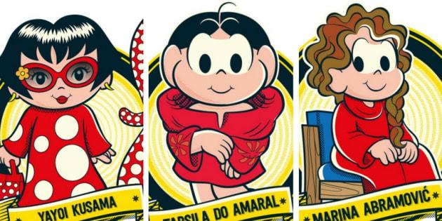 Marina Abramović, Tarsila do Amaral e Yayoi Kusama agora fazem parte da 'Turma da Mônica'