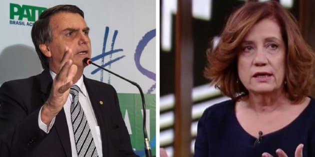 Jair Bolsonaro atacou Míriam Leitão após críticas da jornalista.