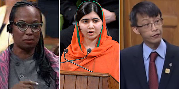 Liberal MP Celina Caesar-Chavannes, Malala Yousafzai, and late MP Arnold Chan delivered memorable speeches in the House of Commons in 2017.
