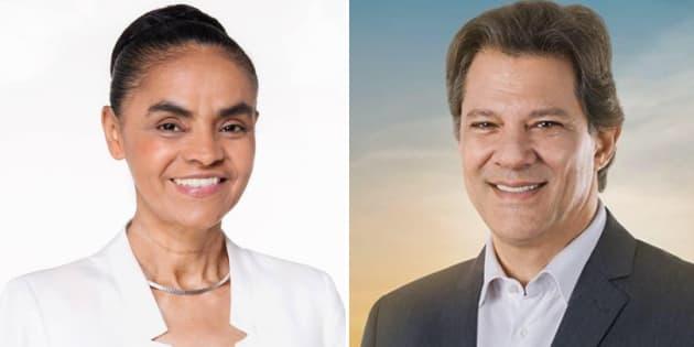 "Marina Silva declara ""voto crítico"" em Fernando Haddad."