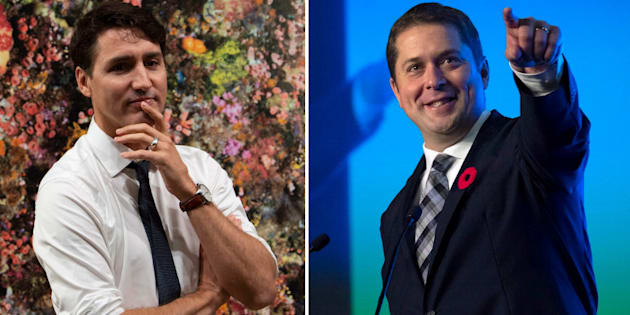 """Prime Minister Justin Trudeau and Conservative Leader Andrew Scheer say they expect the 2019 federal election campaign to be """"nasty."""" Now that's how you get the electorate pumped!"""