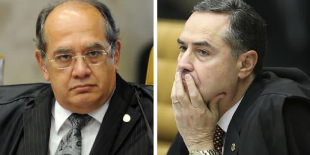 Bate-boca entre ministros Luís Roberto Barroso e Gilmar Mendes, do STF (Supremo Tribunal Federal), levam a suspensão da sessão.
