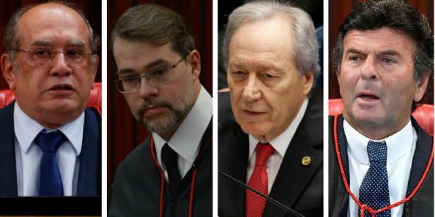Ministros do STF (Supremo Tribunal Federal( Gilmar Mendes, Dias Toffoli, Ricardo Lewandowski e Luiz Fux são alvos de pedidos de impeachment.