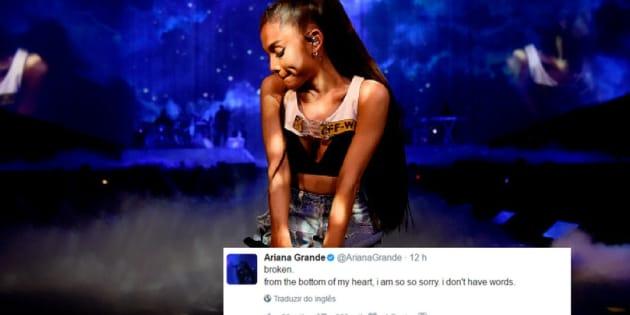 Artistas lamentam ataque em show de Ariana Grande.