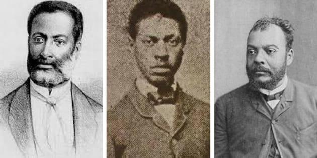 Luiza Gama, André Rebouças e José do Patrocínio.