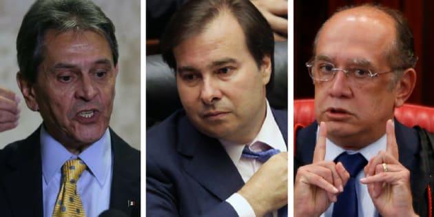 Ex-deputado Roberto Jefferson, presidente da Câmara, Rodrigo Maia, e ministro do STF (Supremo Tribunal Federal) Gilmar Mendes criticam Justiça do Trabalho.