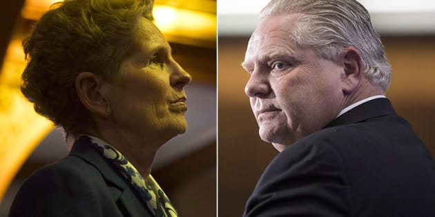 CP                       Ontario Premier Kathleen Wynne launched a direct attack against newly elected Progressive Conservative Leader Doug Ford