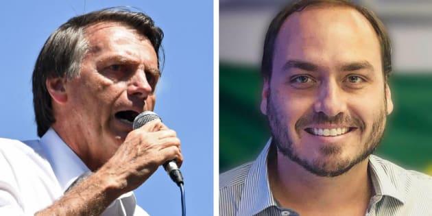 Carlos Bolsonaro criticou a campanha #EleNão em seu Instagram.