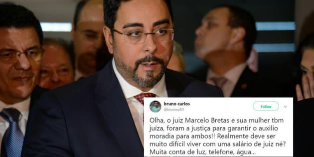 O auxílio-moradia que o juiz Marcelo Bretas e a esposa gerou comoção nas redes sociais.