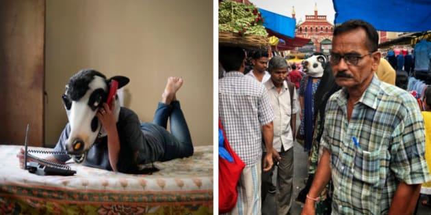 Projeto de fotógrafo indiano quer chamar atenção para os direitos das mulheres.
