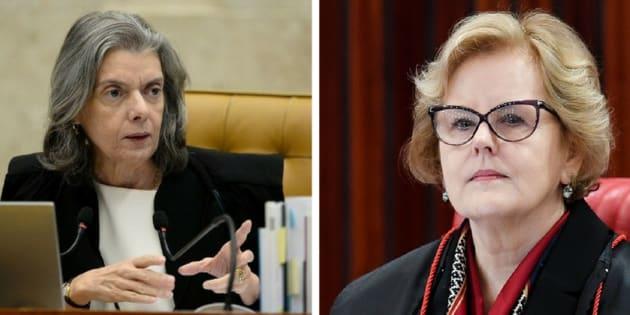Cármen Lúcia e Rosa Weber são as únicas mulheres com cadeiras no Supremo Tribunal Federal.
