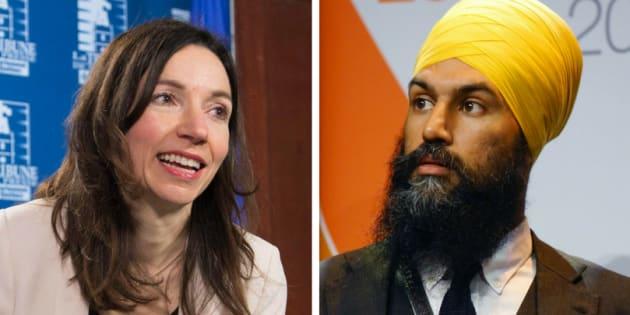 Bloc Québécois Leader Martine Ouellet says that NDP leadership candidate Jagmeet Singh is promoting Sikhism.