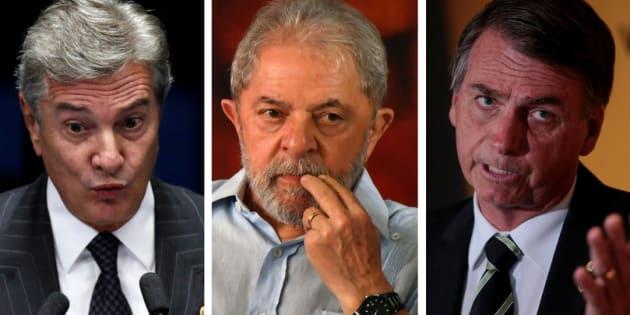 Desses três pré-candidatos à Presidência, um foi condenado e dois são réus.