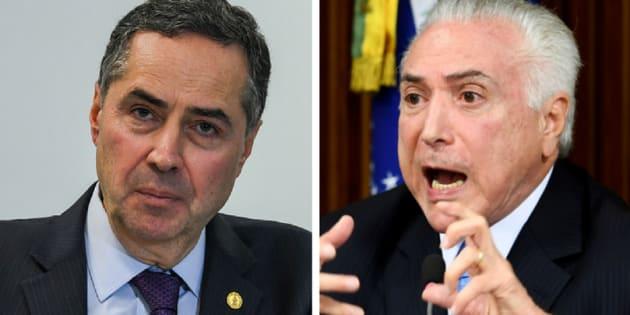 Atritos entre ministro do STF, Luís Roberto Barroso, e presidente Michel Temer são frequentes.