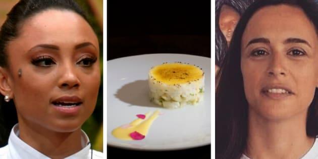 Logo depois da apresentação dasobremesa no programa, transmitido ao vivo na noite de ontem (22), Bel Coelho contestou a originalidade do prato de Michele.