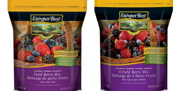 Europe's Best frozen berries are under recall.