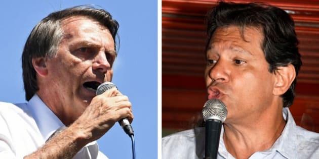 Jair Bolsonaro (PSL) e Fernando Haddad (PT) estão no segundo turno.