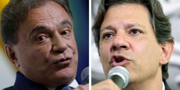 Alvaro Dias, do Podemos, e Fernando Haddad, do PT, protagonizaram um dos principais embates do debate da TV Aparecida nesta quinta-feira (20).