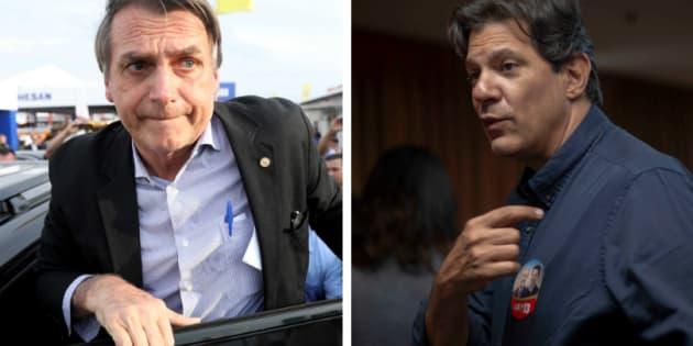 Bolsonaro segue líder nas pesquisas de intenção de voto, e Fernando Haddad é o que apresenta tendência de crescimento.