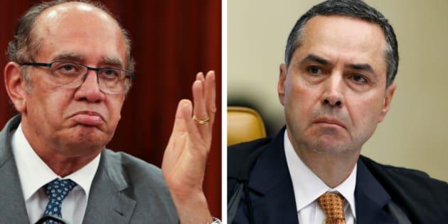 O bate-boca entre Gilmar Mendes e Luis Roberto Barroso