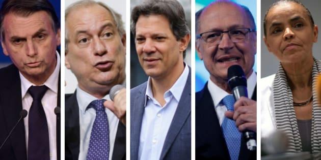 Resultado de imagem para Pesquisa Datafolha: Bolsonaro, 26%; Ciro, 13%; Haddad, 13%; Alckmin, 9%; Marina, 8%