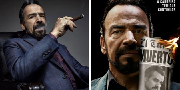 Encarnando um dos irmãos Orejuela, do cartel de Cali, Damián Alcázar é novo protagonista de 'Narcos'.