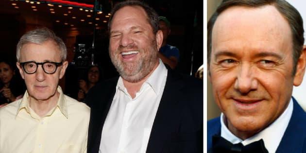Woody Allen, Harvey Weinstein e Kevin Spacey são acusados de estupro e assédio.