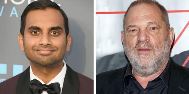 """""""Harvey Weinstein é uma anomalia, ou pelo menos uma relativa raridade. Aziz Ansari, não."""""""