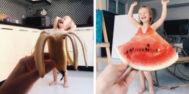 Essa mãe encontrou os melhores 'vestidos' para sua filha.