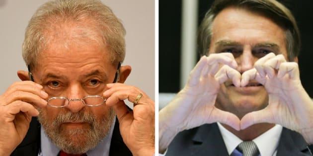Pesquisa Datafolha divulgada neste domingo (30) mostrou o ex-presidente Lula no primeiro lugar faz intenções de voto para as eleições de 2018, seguido pelo deputado federal Jair Bolsonaro.