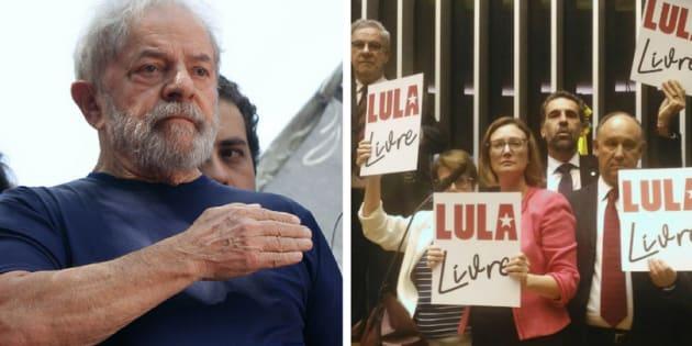 Aliados e adversários do ex-presidene Luiz Inácio Lula da Silva mudam nomes nos painéis de votação em apoio e provocação ao petista.