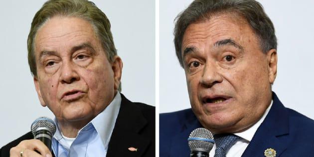 """Ficou acertado que nós anunciamos esta chapa, a partir de agora: Alvaro Dias, presidente; e Paulo Rabello, vice-presidente"", afirmou o presidente do PSC, Pastor Everaldo."