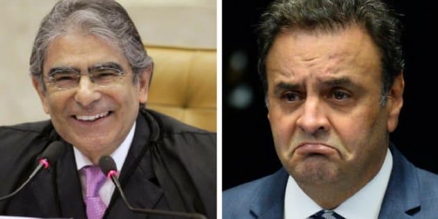 """Para o ex-ministro, a decisão de Aécio de recorrer no próprio Supremo mostra um reconhecimento por parte do senador de que""""cabe ao tribunal dar a última palavra""""."""