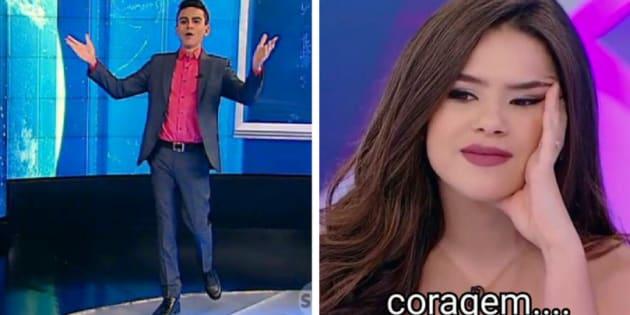 O apresentador acabou revelando a resposta que deu à atriz no programa de Silvio Santos do último domingo (18).