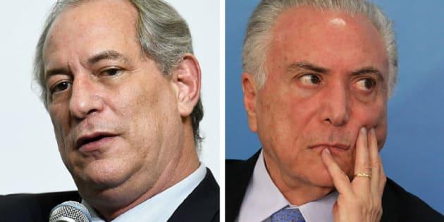 Ciro é crítico da política de teto de gastos públicos e já afirmou que o presidente Michel Temer deveria ser preso.