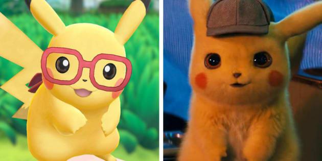 Pikachu estrela game do Nintendo Switch e filme em que ganha a voz do ator Ryan Reynolds.