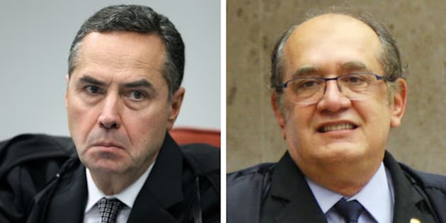 """""""Não transfira pra mim essa leniência que vossa excelência tem com os crimes de colarinho branco"""", disse Barroso para Mendes."""