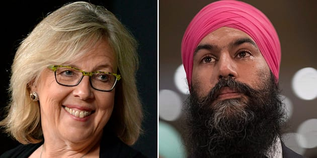 Green Party Leader Elizabeth May congratulated Jagmeet Singh on winning the NDP leadership race. She also gave him a quick reminder on Canada's electoral system.