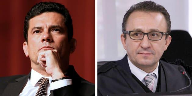 Sérgio Moro e Rogério Favreto. Os argumentos contrários aos magistrados incluem questionamentos sobre conflito de interesses e desobediência de decisão judicial.