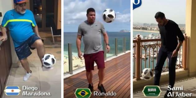 Craques da Copa do Mundo batem bola em vídeo da Fifa.