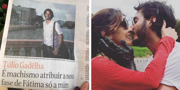 Túlio Gadêlha, namorado de Fátima Bernardes, deu entrevista à Folha de S.Paulo.