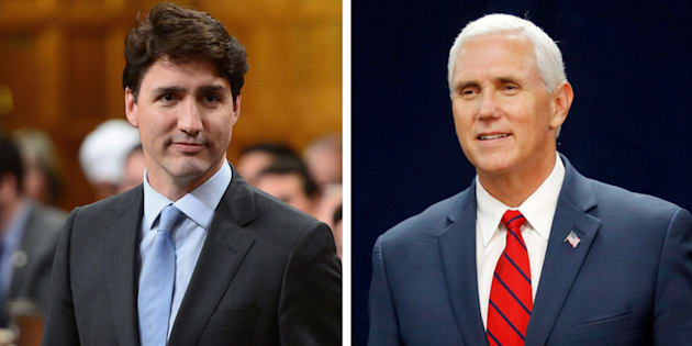 Prime Minister Justin Trudeau will meet with U.S. Vice-President Mike Pence this week.