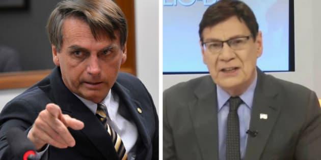 Bolsonaro e Luiz Carlos Prates são conhecidos pelos comentários polêmicos.