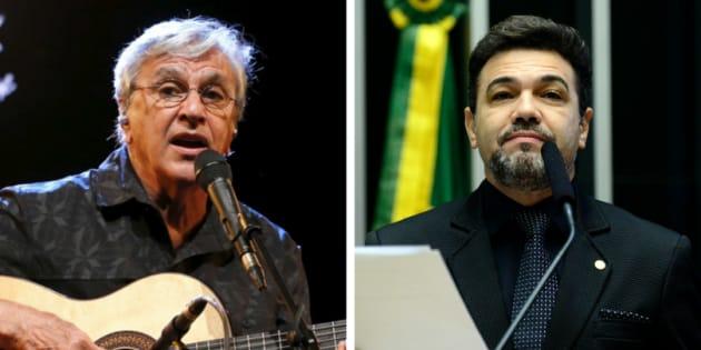 Queixa de Caetano contra o deputado Marco Feliciano está no STF.
