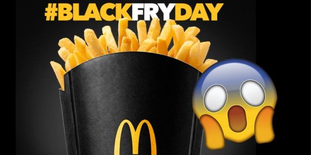MCDonald's anuncia refil grátis de batatas fritas na Black Friday