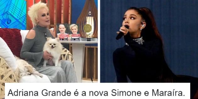 A apresentadora do programa matinal da Globo, Ana Maria Braga, confundiu o nome da cantora americana Ariana Grande com Adriana Grande.