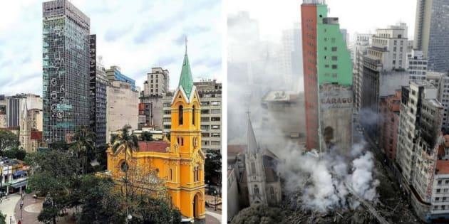 Prédio Wilton Paes de Almeida desabou no centro de São Paulo no início deste mês.