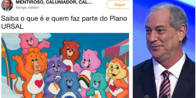 Memes sobre o que seria Ursal e gifs de Ciro Gomes tomaram grupos de WhatsApp.